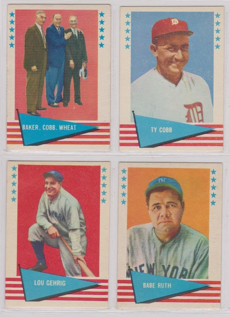 Lot of (2) 1961 Fleer Baseball Greats Card Lots