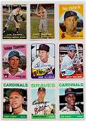 Lot of (45) 1950-60's Autographed Baseball Cards w