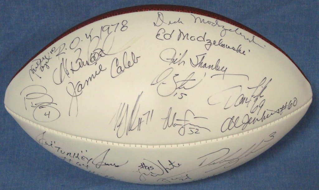 Cleveland Browns Multi-Signed Wilson Football, (25) Sig