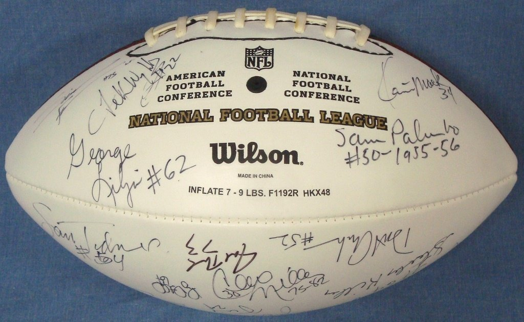 Cleveland Browns Multi-Signed Wilson Football, (25) Sig - 3
