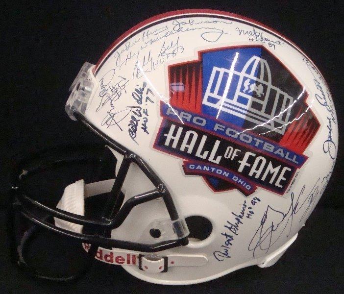 Pro Football Hall of Fame Multi-Signed Full Size Helmet
