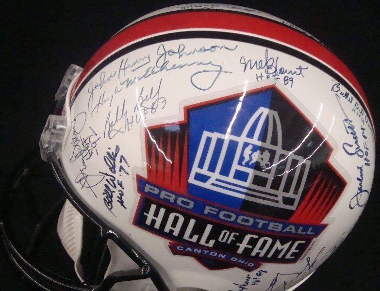 Pro Football Hall of Fame Multi-Signed Full Size Helmet - 2