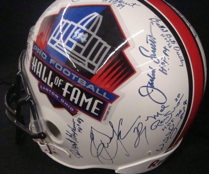 Pro Football Hall of Fame Multi-Signed Full Size Helmet - 3