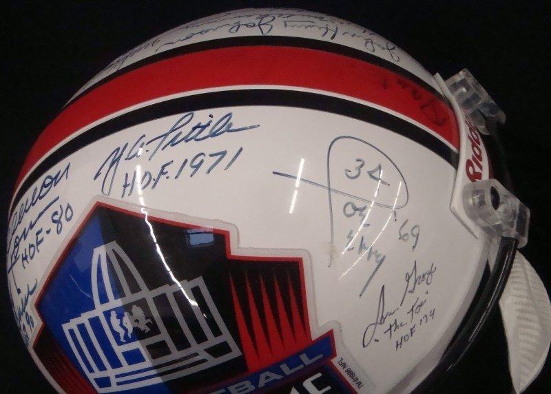 Pro Football Hall of Fame Multi-Signed Full Size Helmet - 4