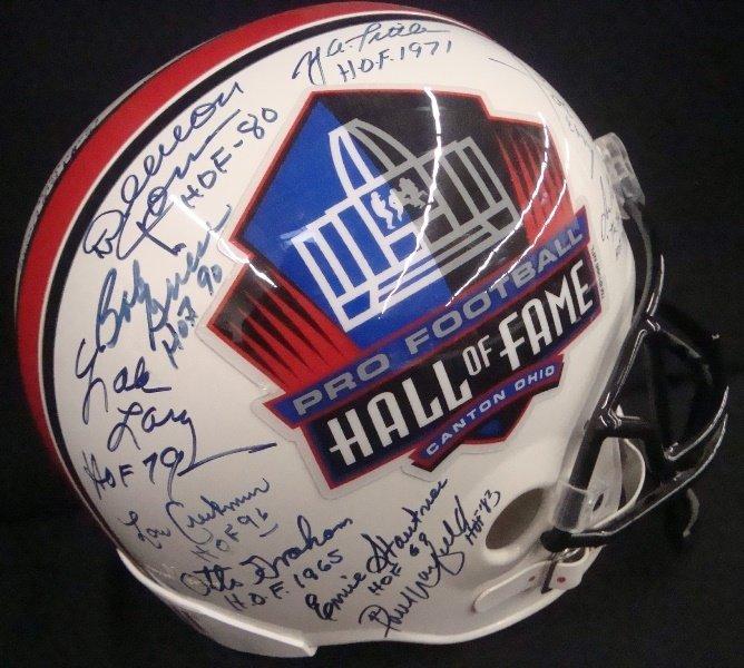 Pro Football Hall of Fame Multi-Signed Full Size Helmet - 5