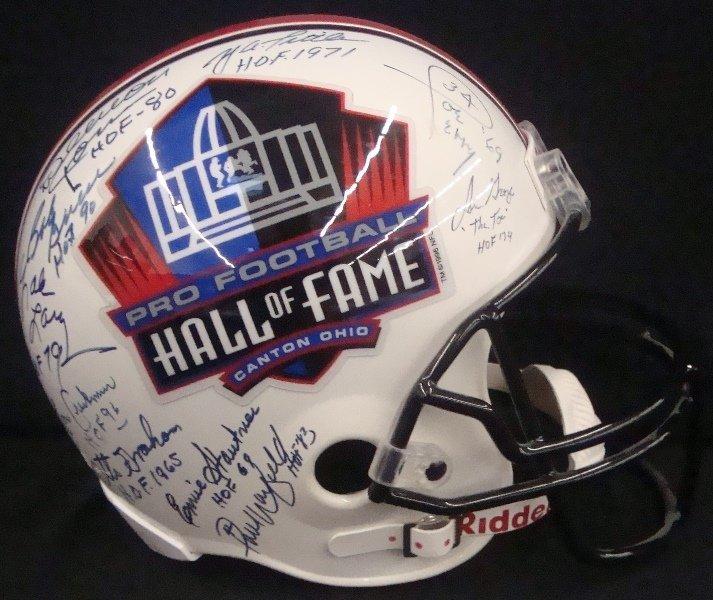 Pro Football Hall of Fame Multi-Signed Full Size Helmet - 6