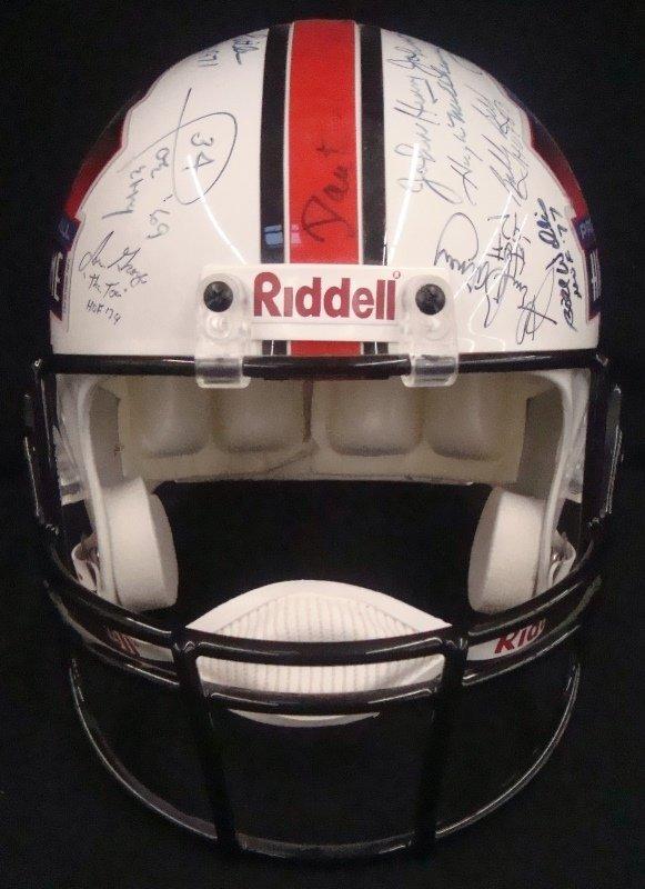 Pro Football Hall of Fame Multi-Signed Full Size Helmet - 7