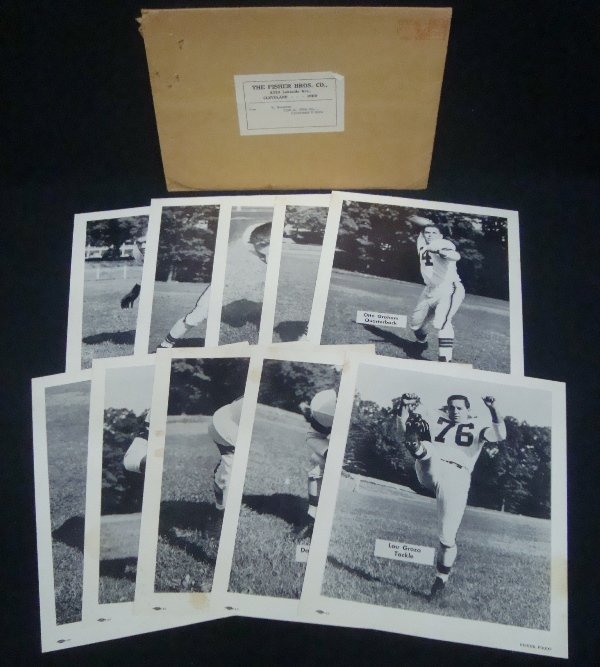 Lot of (10) Rare 1954 Fisher Foods Cleveland Browns