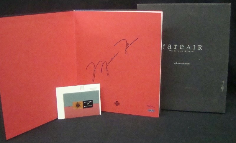 "Michael Jordan Autographed ""Rare Air"" Hard Cover Book w - 2"