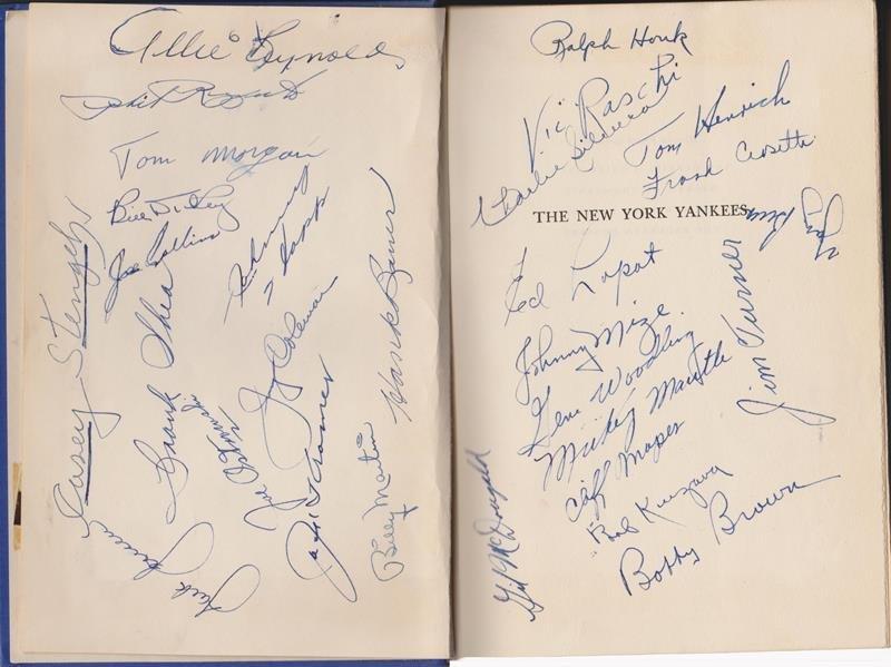 1951 World Series Champion NY Yankees Multi-Signed Book
