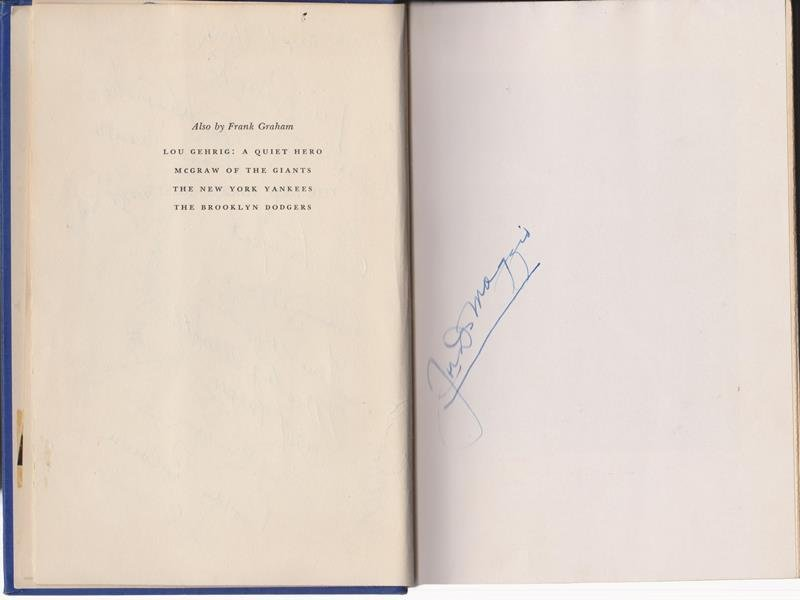 1951 World Series Champion NY Yankees Multi-Signed Book - 2