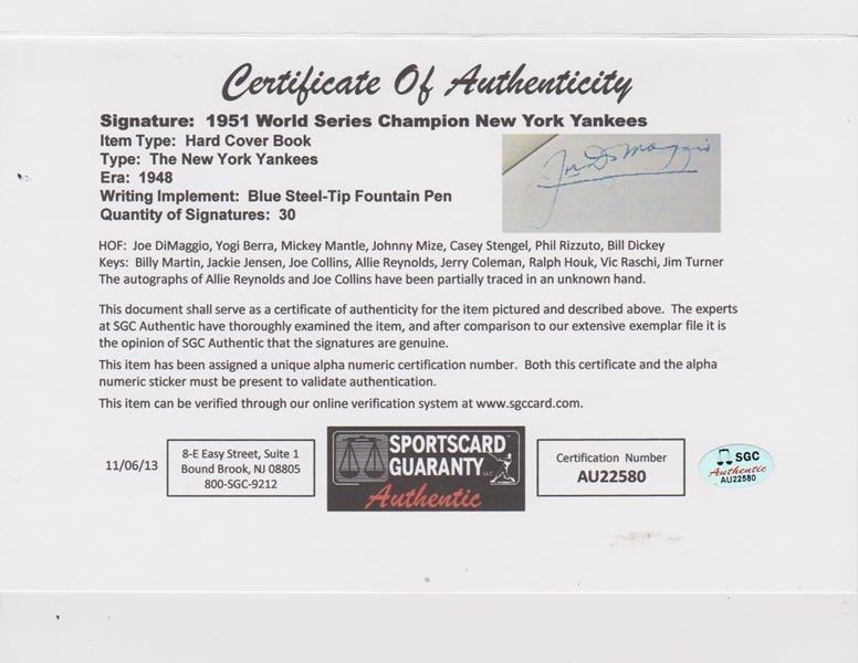 1951 World Series Champion NY Yankees Multi-Signed Book - 3