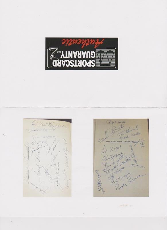 1951 World Series Champion NY Yankees Multi-Signed Book - 4