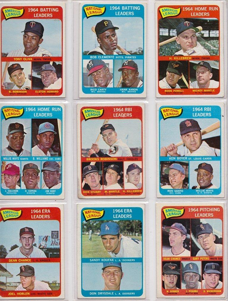 1965 Topps Baseball Card Complete Set w Stars - 3