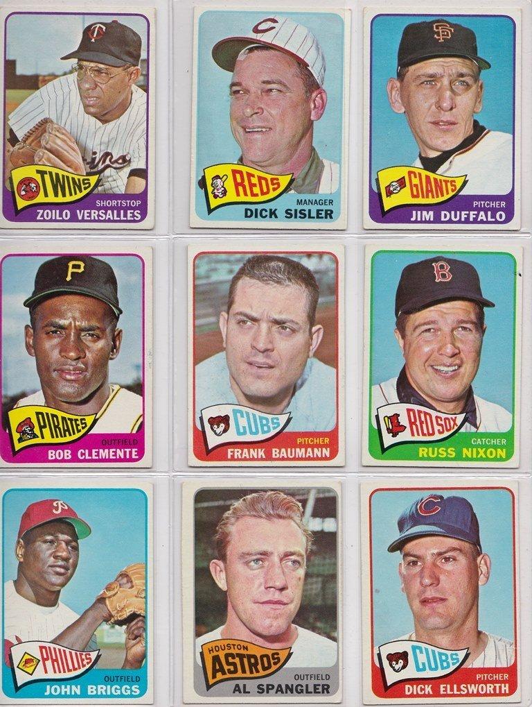 1965 Topps Baseball Card Complete Set w Stars - 4