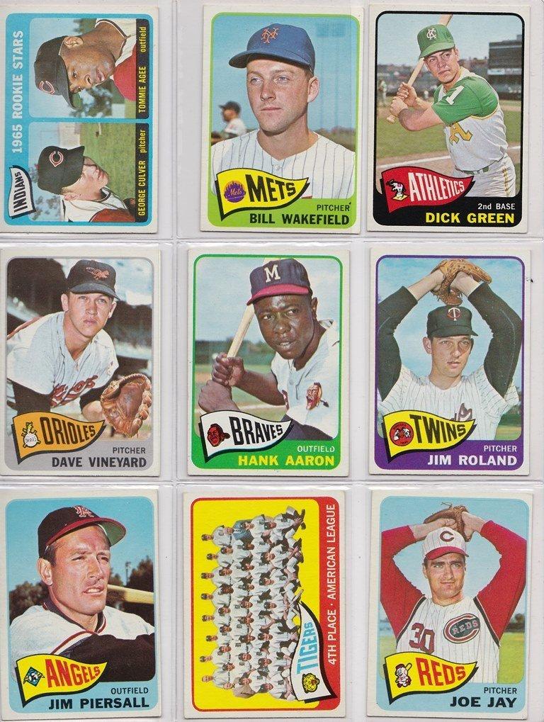 1965 Topps Baseball Card Complete Set w Stars - 5