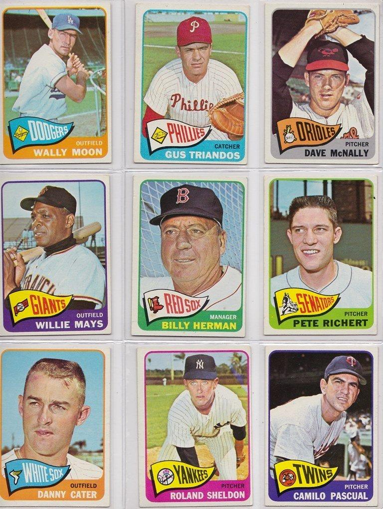 1965 Topps Baseball Card Complete Set w Stars - 6