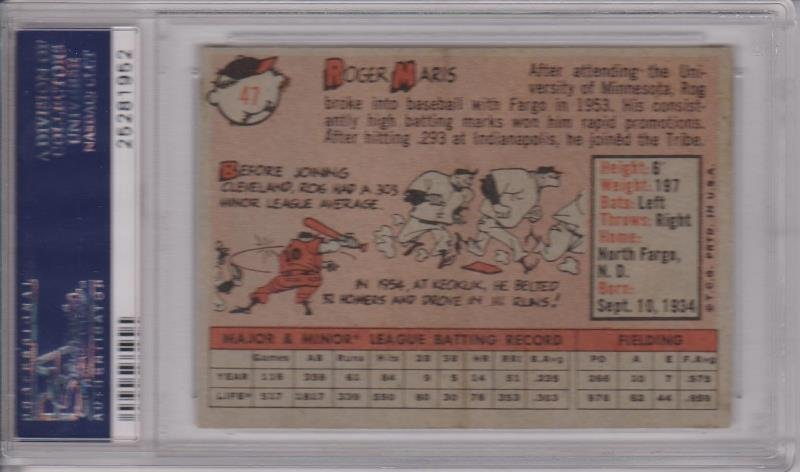 1958 Topps Baeeball Complete Set, (494) Cards w Maris - 2