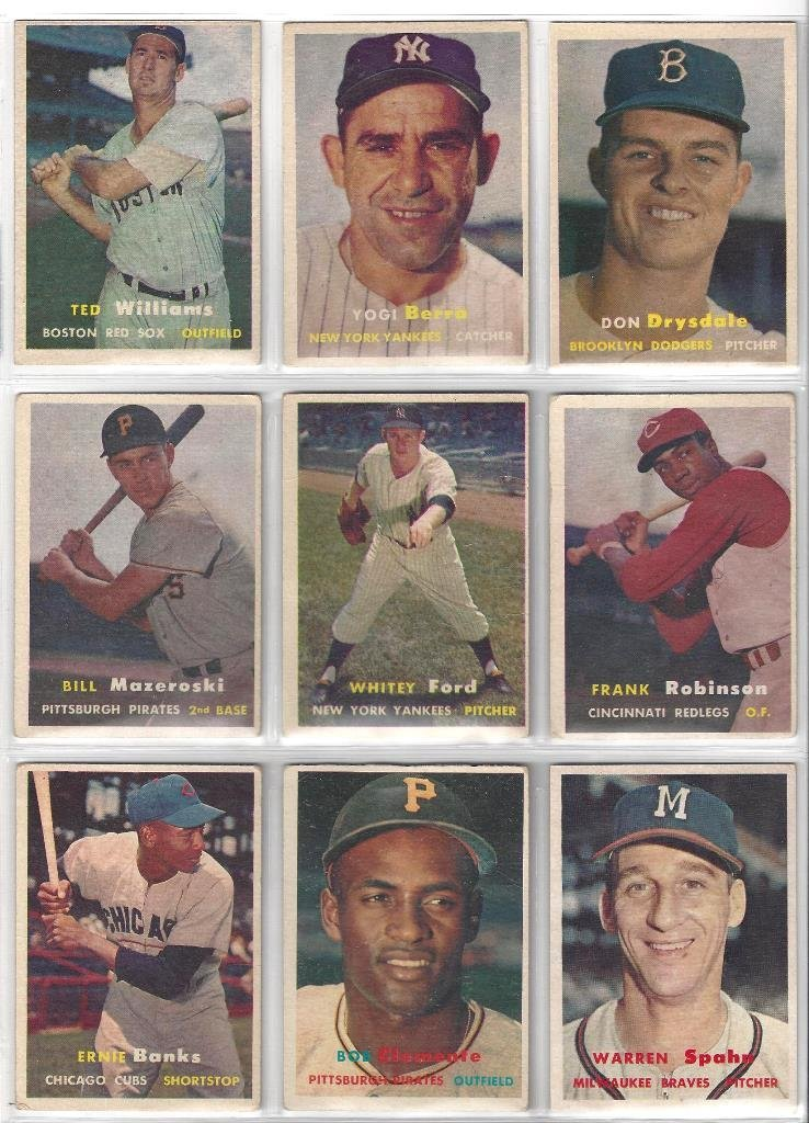 1957 Topps Baseball Card Partial Set w Tons of Stars,