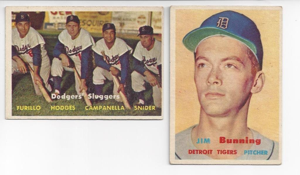 1957 Topps Baseball Card Partial Set w Tons of Stars, - 3