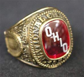 1957 Ohio State Football National Championship Ring