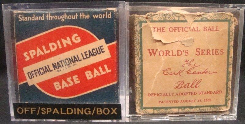 (2) 1930's Baseball Boxes (1) w/1934-39 Harridge Ball