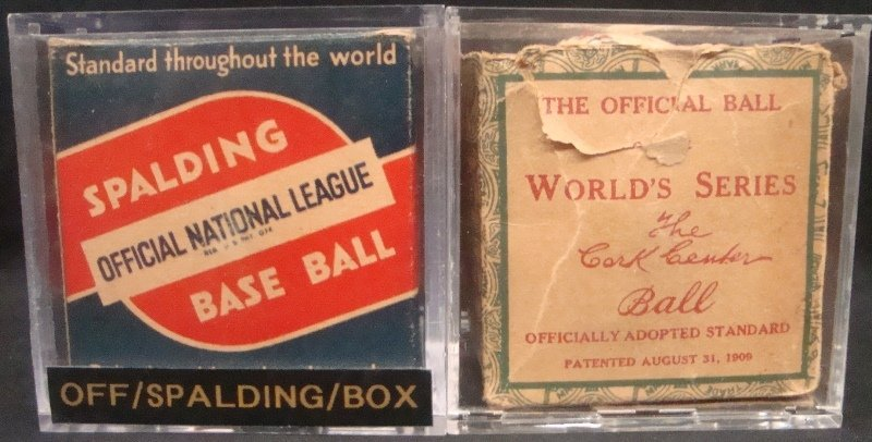 (2) 1930's Baseball Boxes (1) w/1934-39 Harridge Ball