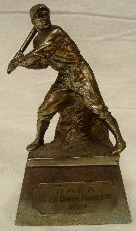 1929 CABA Major Indoor Champions Baseball Trophy