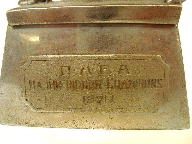 1929 CABA Major Indoor Champions Baseball Trophy - 2