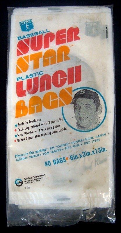 1979 Safelon Corp Baseball Superstar Lunch Bags