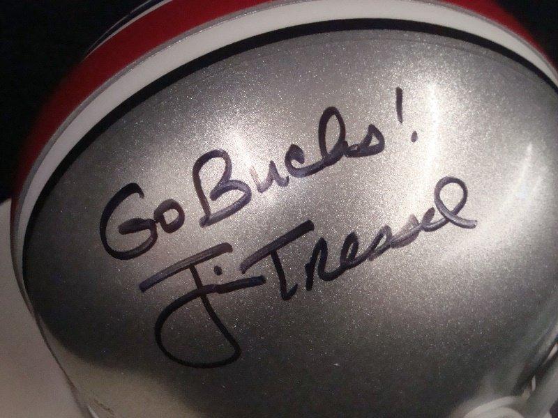 Jim Tressel Autographed Ohio State Mini Helmet - 2