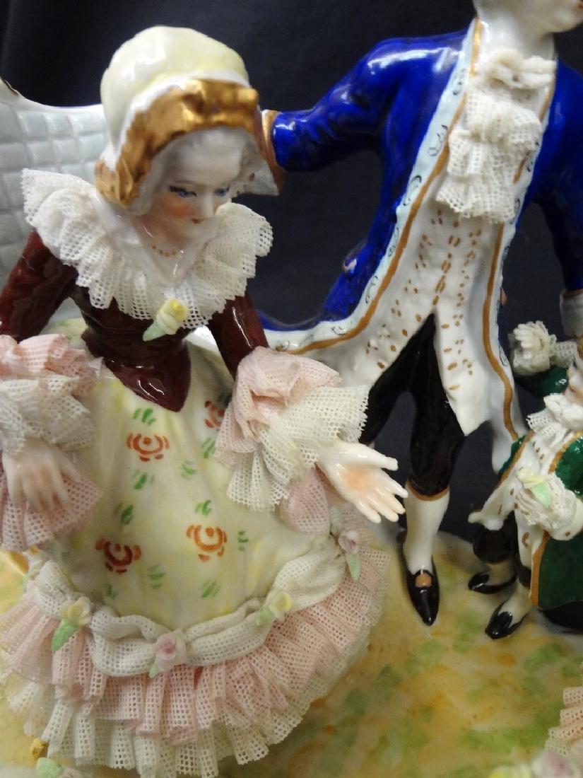 Dresden German Porcelain Figural Group Large Hand - 4