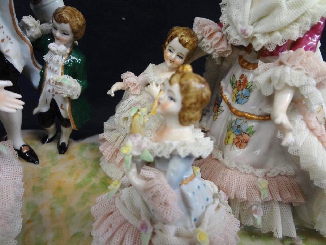 Dresden German Porcelain Figural Group Large Hand - 5