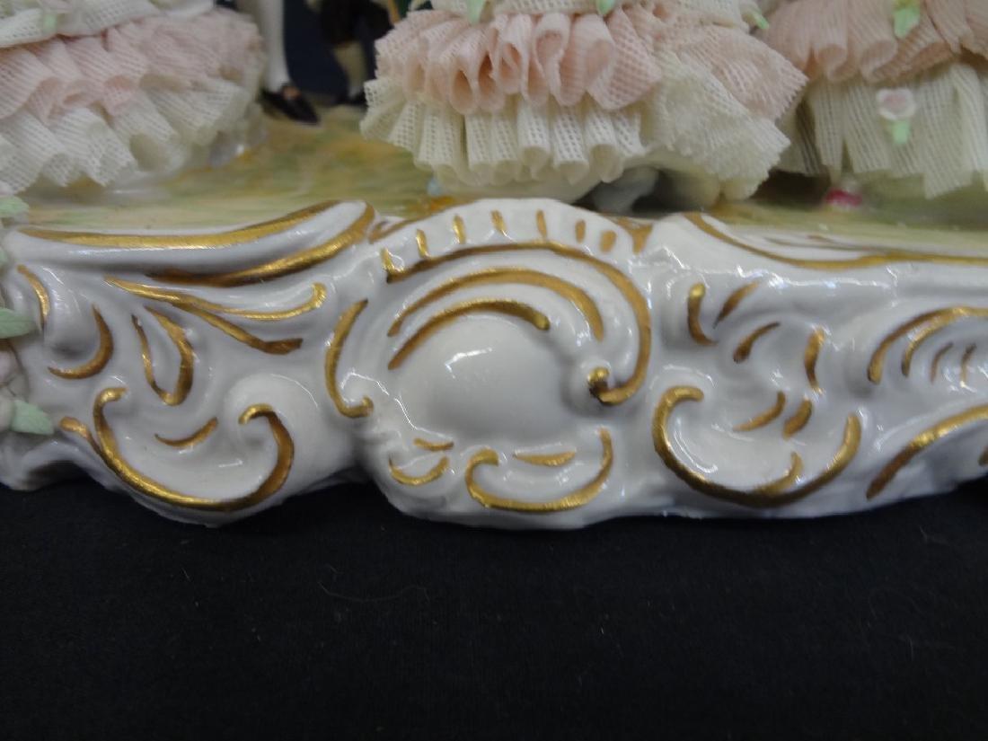 Dresden German Porcelain Figural Group Large Hand - 7
