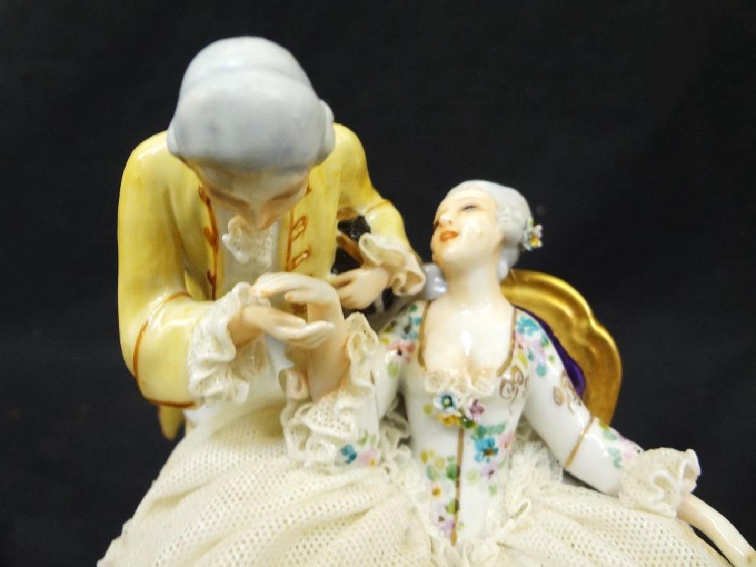 Luigi Fabris Italian Porcelain Figural Group Lady and - 2