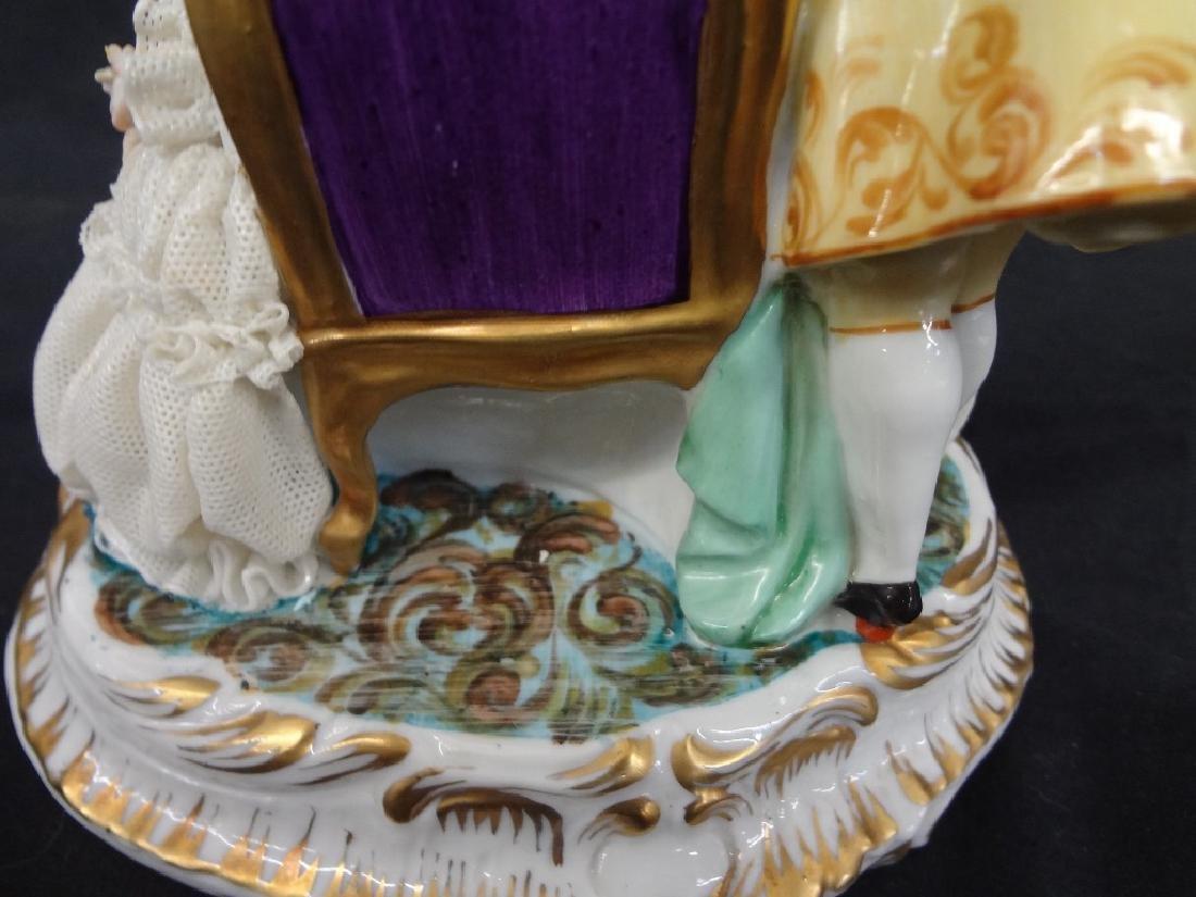 Luigi Fabris Italian Porcelain Figural Group Lady and - 5
