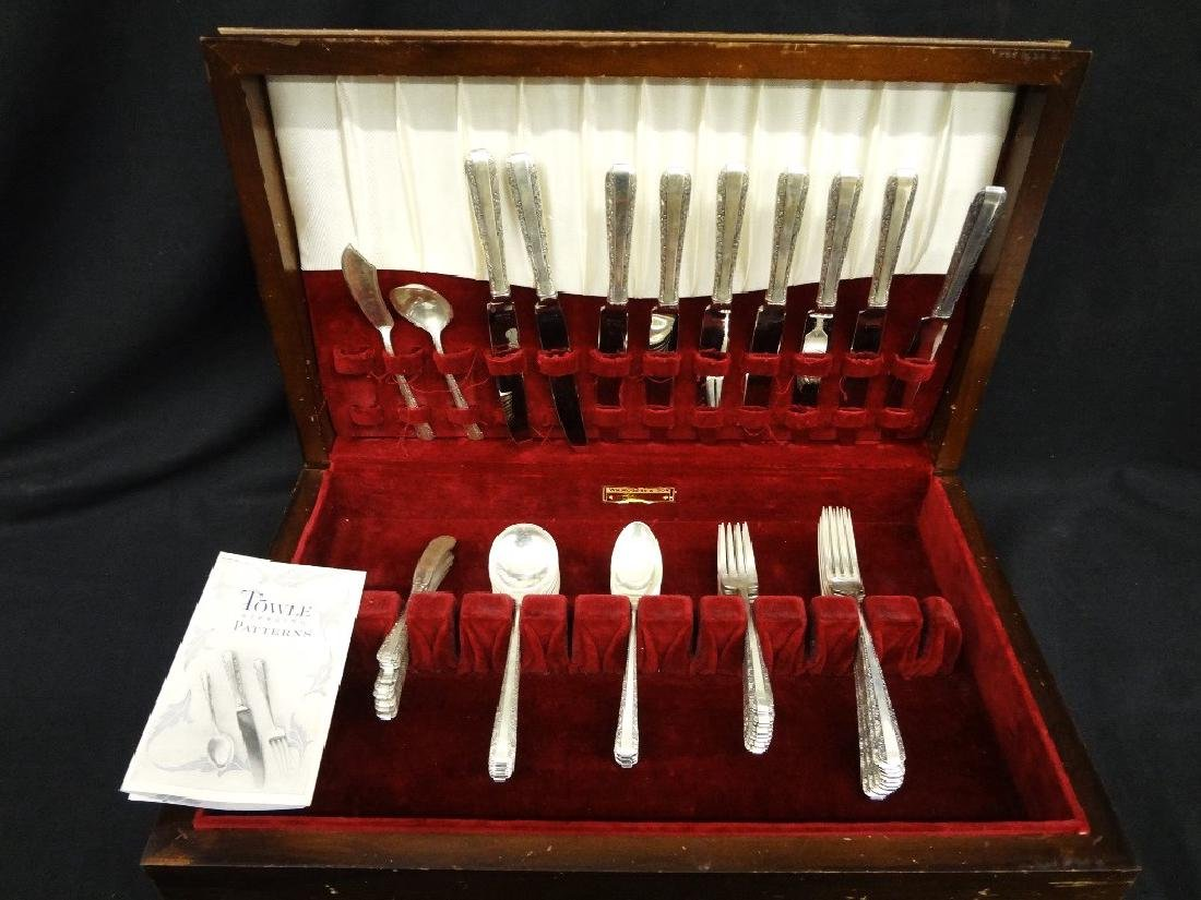 1934 Towle Candlelight Sterling Silver Flatware 1,620