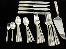 Towle Sterling Silver Rambler Rose Flatware 22 Pcs