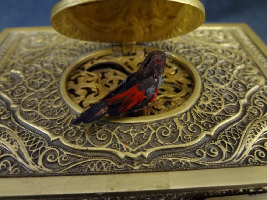 Late 19th Century Singing Bird Bronze Automaton Music - 4