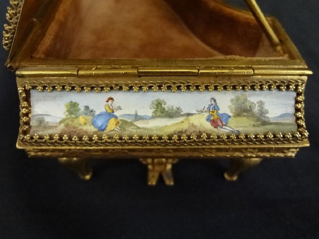 Hand Painted Austrian Piano Grand Piano Trinket Box - 4