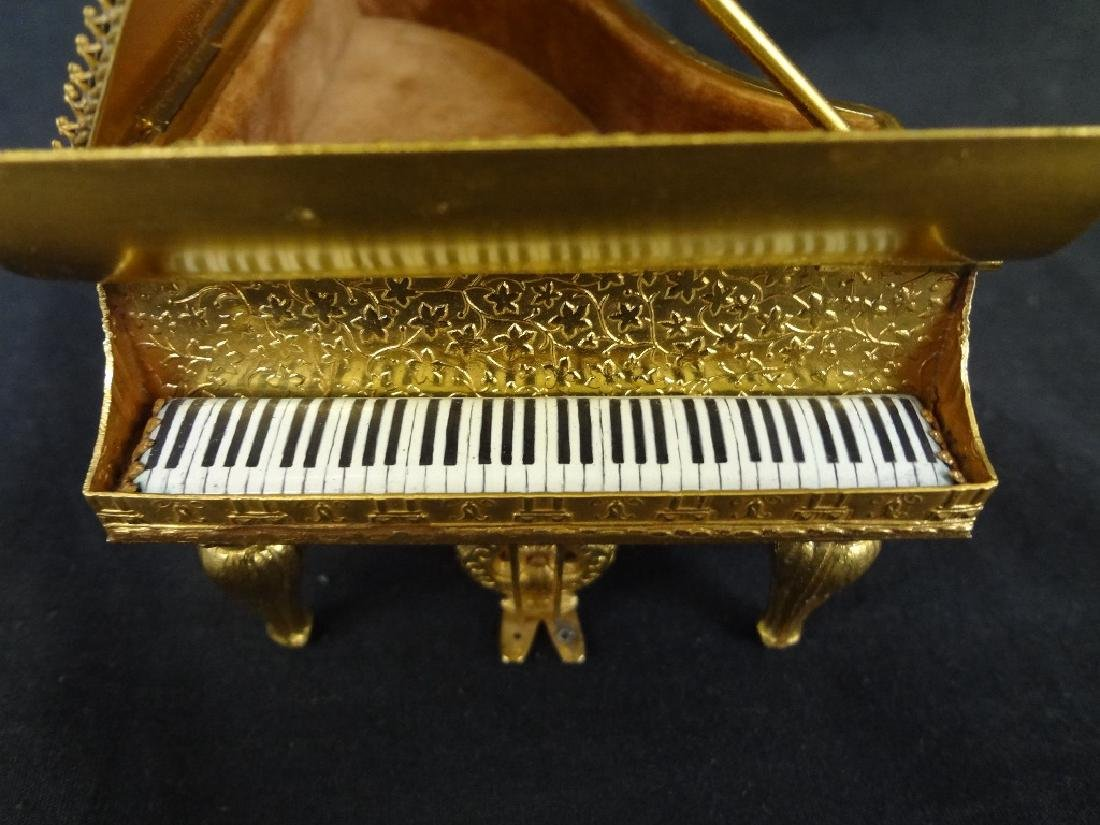 Hand Painted Austrian Piano Grand Piano Trinket Box - 5