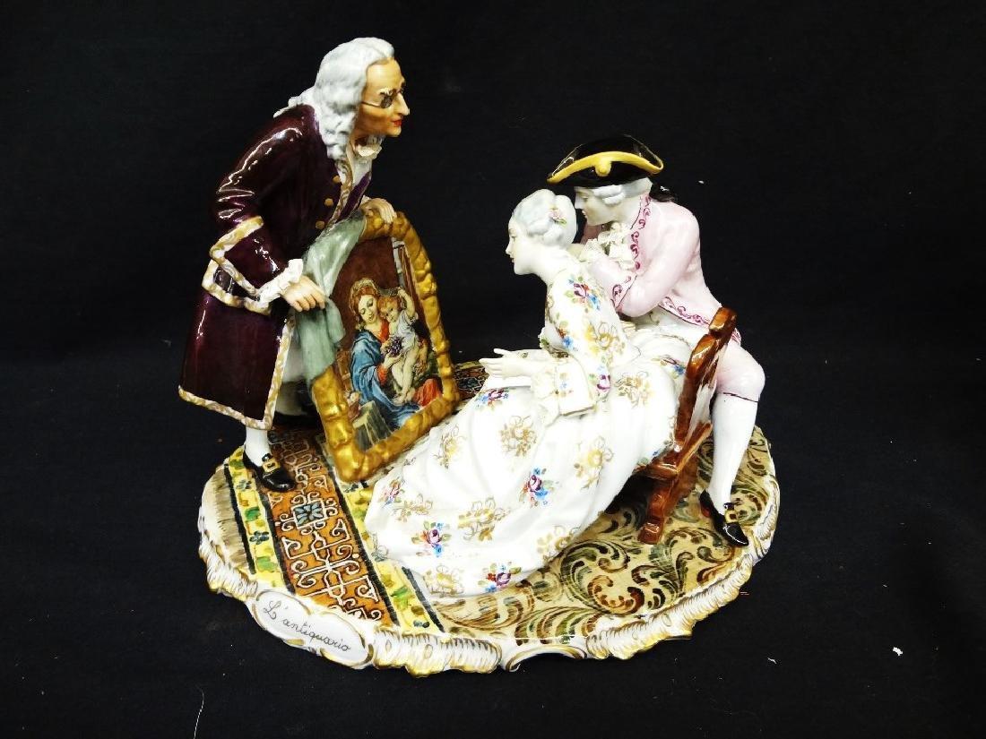 Luigi Fabris Large Italian Porcelain Figural Group