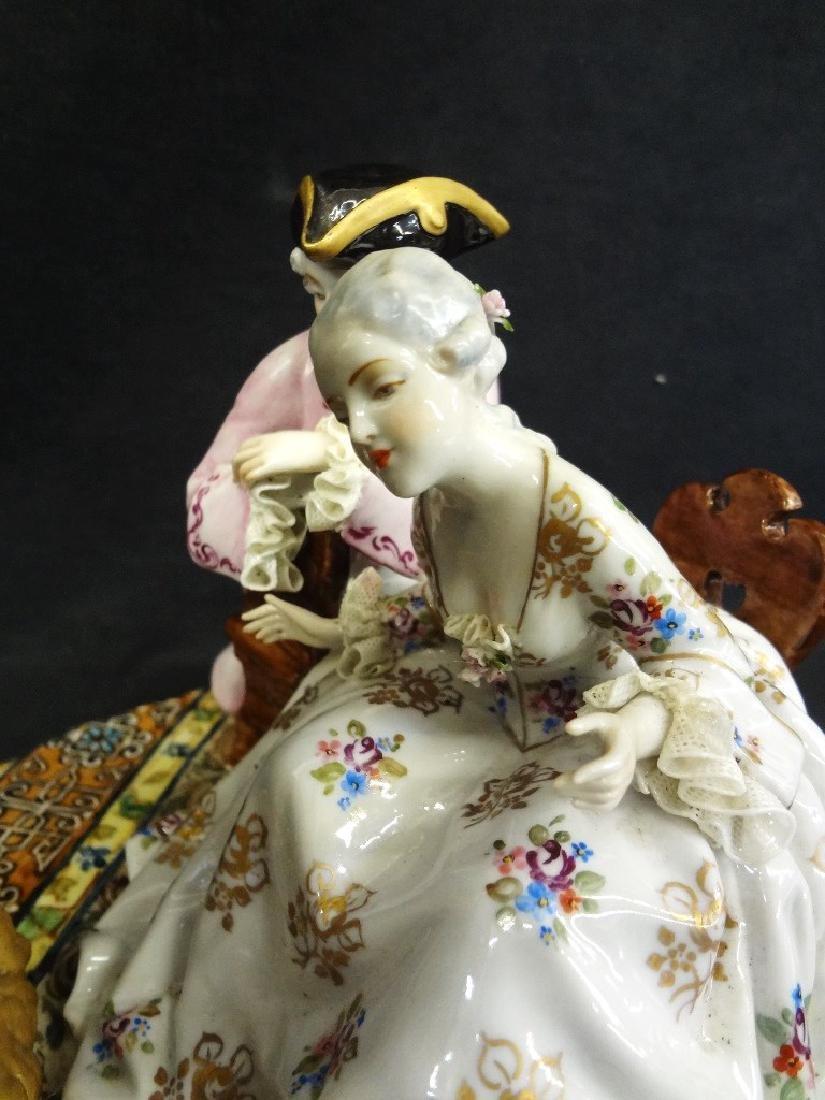 Luigi Fabris Large Italian Porcelain Figural Group - 3