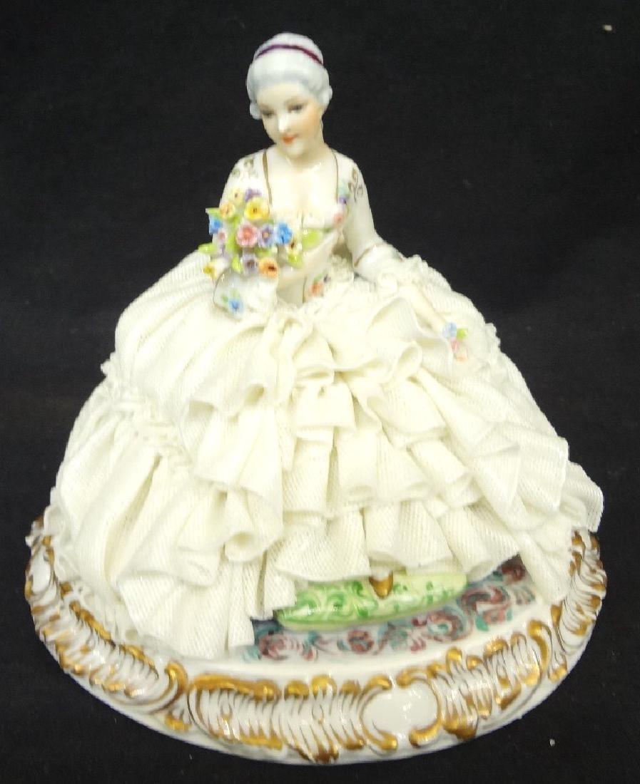 Luigi Fabris Italian Porcelain Figural Lady in Chair