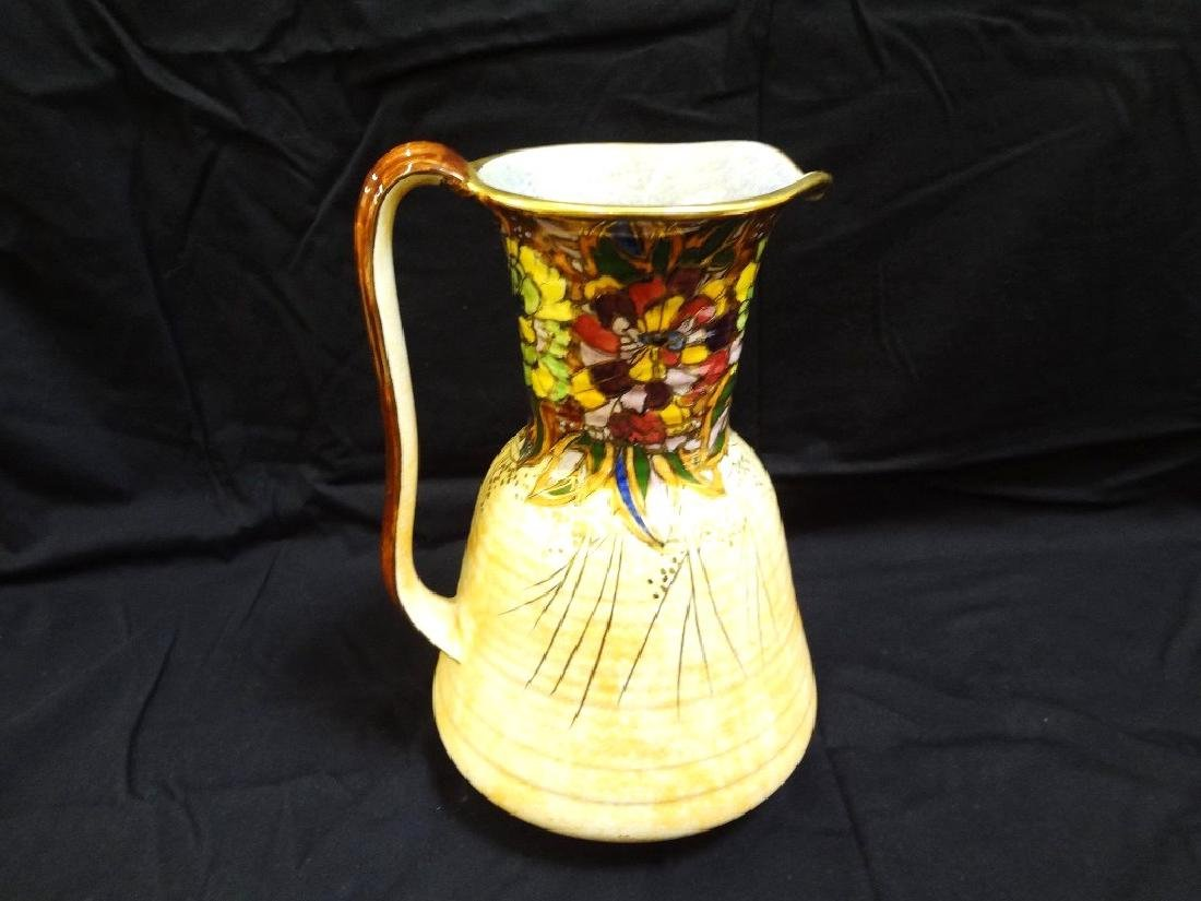 Royal Winton Signed Water Pitcher Gold Accent 11 inches
