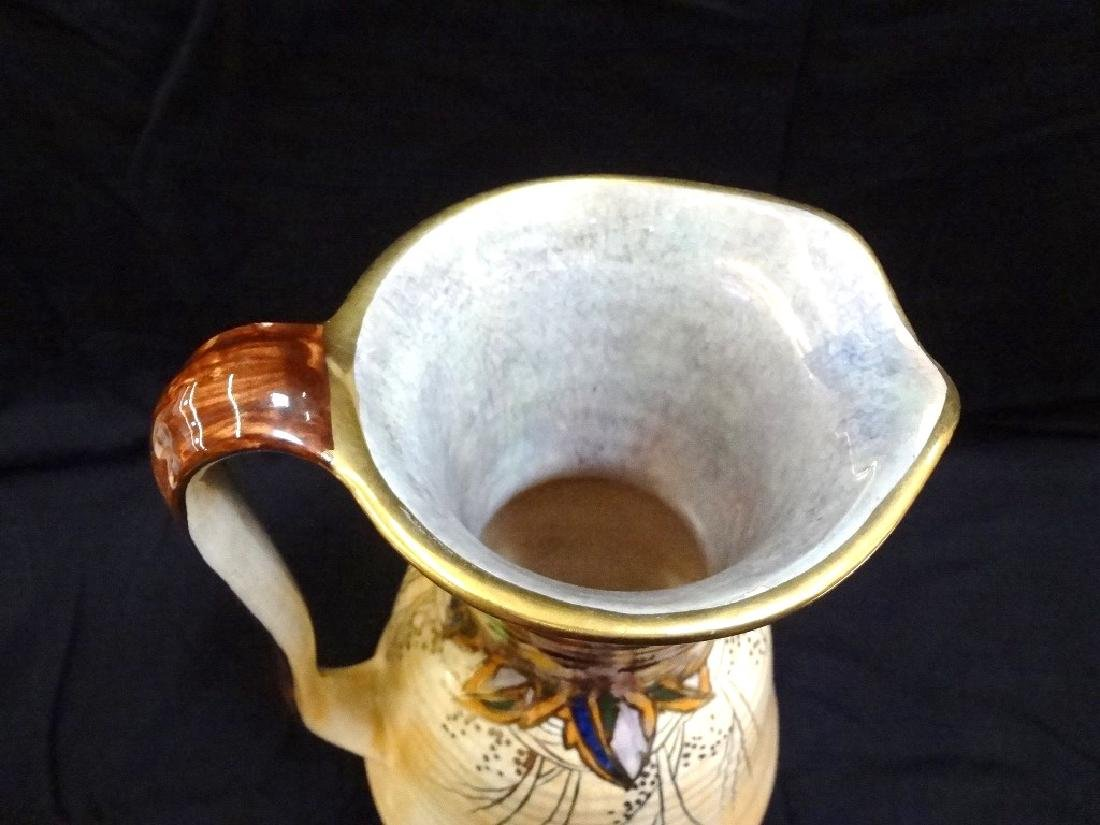 Royal Winton Signed Water Pitcher Gold Accent 11 inches - 3