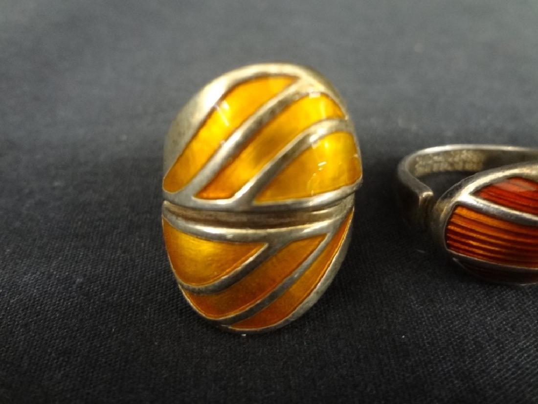 (2) David Anderson Sterling and Enamel Ladies Rings - 3