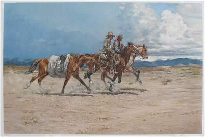 """Gordon Phillips """"Line Riders"""" Lithograph S/N 483/490"""