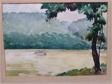 1935 Ohio School Oil on Canvas Dubaniewicz,