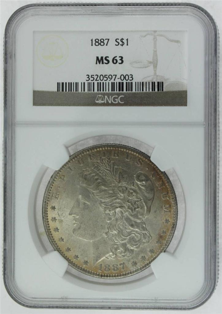 1887 Morgan Silver Dollar NGC MS63